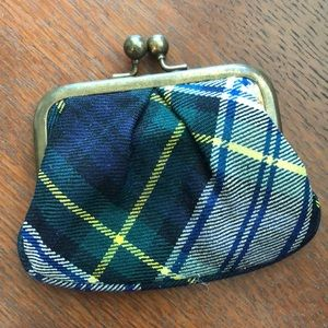 J.Crew Plaid Change Purse